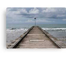 jetty on the beach Canvas Print