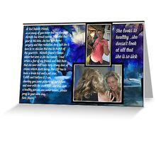 Michele and her cancer ...re-mission and cancer is back Greeting Card