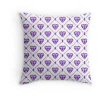 LightPurple Diamond Grid Pattern Throw Pillow