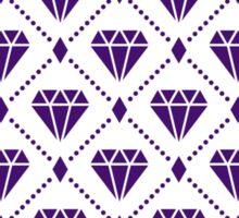 Purple Diamond Grid Pattern Sticker