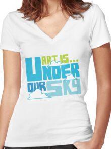Art Is 2011 festival tshirt Women's Fitted V-Neck T-Shirt
