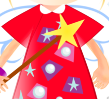 Cute angel with robins Sticker