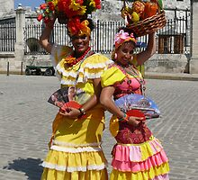 Havana girls pose for tourists, Cuba by krista121