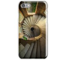 Spiral staircase in forgotten castle iPhone Case/Skin