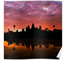 Sunrise Over Angkor Wat Poster