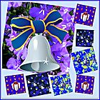 Christmas in Blue Collage by BlueMoonRose