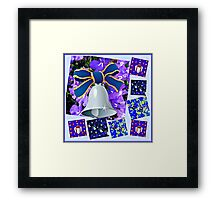 Christmas in Blue Collage Framed Print