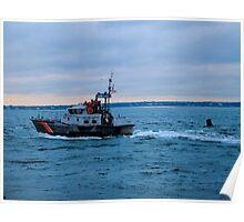 Old Boat U.S Coast Guard  Poster