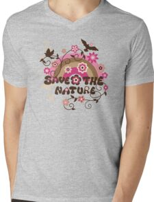 Earthday Save Nature Mens V-Neck T-Shirt