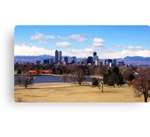 Downtown Denver in March Canvas Print