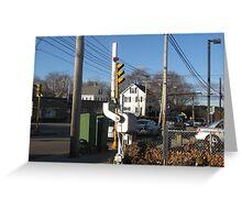 Pedestrian Gate at Needham Heights Greeting Card