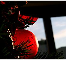 Red Bauble Photographic Print