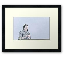 True Detective. Framed Print