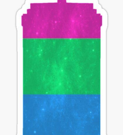 Polysexual Pride Police Box Sticker