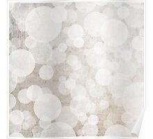 bubbles in brown and white and cream Poster