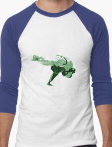 Judo Throw in Gi 2 Green Men's Baseball ¾ T-Shirt
