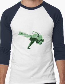 Judo Throw in Gi 2 Green Men's Baseball ¾ T-Shirt