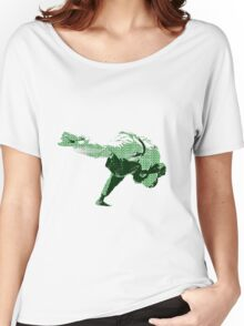 Judo Throw in Gi 2 Green Women's Relaxed Fit T-Shirt