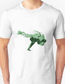 Judo Throw in Gi 2 Green Unisex T-Shirt