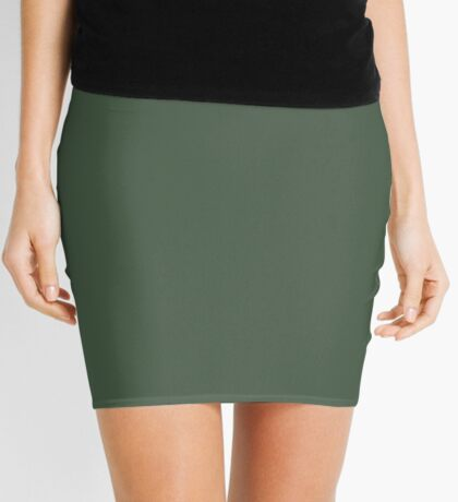 Gray Asparagus  Mini Skirt
