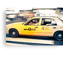 NYC Taxi crossing Canvas Print