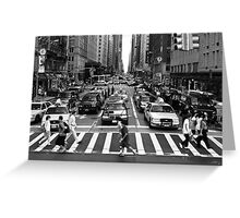 NYC Street Crossing Greeting Card
