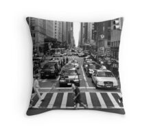 NYC Street Crossing Throw Pillow