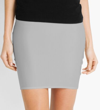 Gray Smoke  Mini Skirt