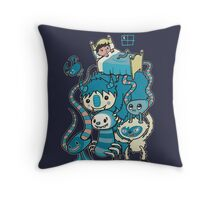 The Beasties Under My Bed Throw Pillow