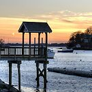 Sunset at Manchester By The Sea by Monica M. Scanlan