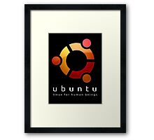 Ubuntu - linux for human beings Framed Print