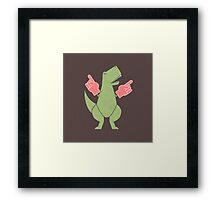Yay! Big Hands! Framed Print