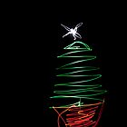 Xmas Tree Light Painting by maclac