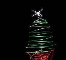 Xmas Tree Light Painting by Malc Foy