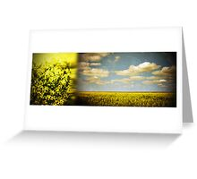 submerged in gold Greeting Card