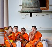 Young Monks by Daniel Nahabedian