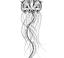 Jellyfish Mandala by inklingsbyellie