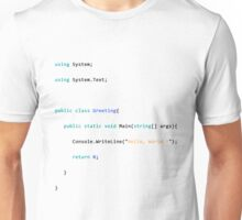 Greetings, hello world,  Unisex T-Shirt