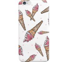 Fraises et glace à la Vanille iPhone Case/Skin
