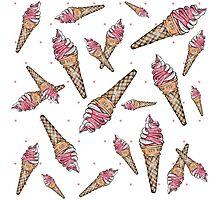 Fraises et glace à la Vanille Photographic Print