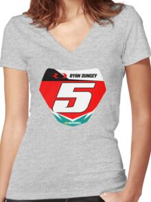 RD 5 Women's Fitted V-Neck T-Shirt