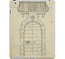 Italian vintage door with balcony iPad Case/Skin