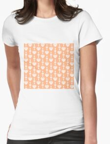 Peach Diamond Jewels Womens Fitted T-Shirt