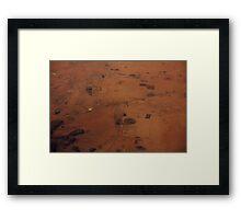 Sudan from above, Africa Framed Print