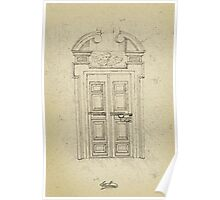 Italian old vintage door grapgics Poster