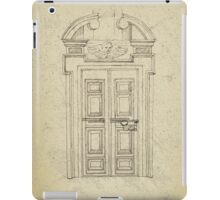 Italian old vintage door grapgics iPad Case/Skin