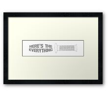 Dirt Bike Throttle Grip Framed Print