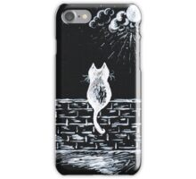 Cat on the look out iPhone Case/Skin