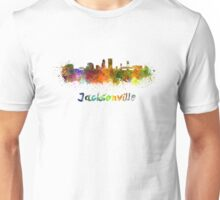 Jacksonville skyline in watercolor Unisex T-Shirt