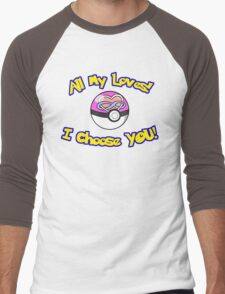 Parody: I Choose All My Loves! (Polyamory) Men's Baseball ¾ T-Shirt